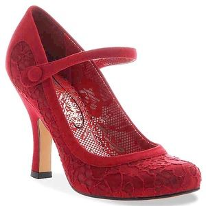 Poetic License Red Mary Jane Pump (imported) (new)